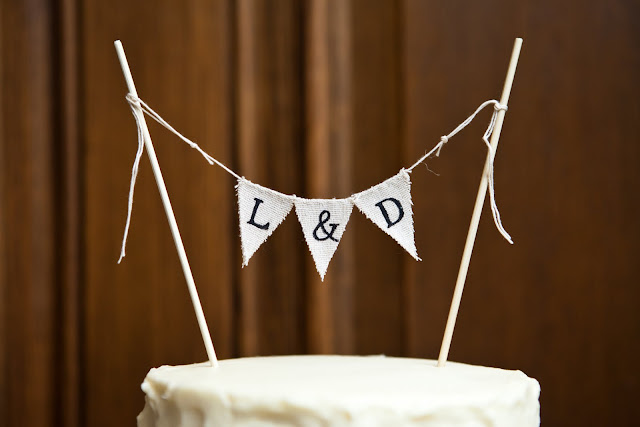 Wedding Cake Bunting with Initials