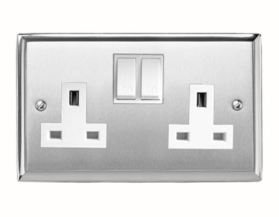 Heritage Brass P950 contractor range, 13A Switched Twin Socket