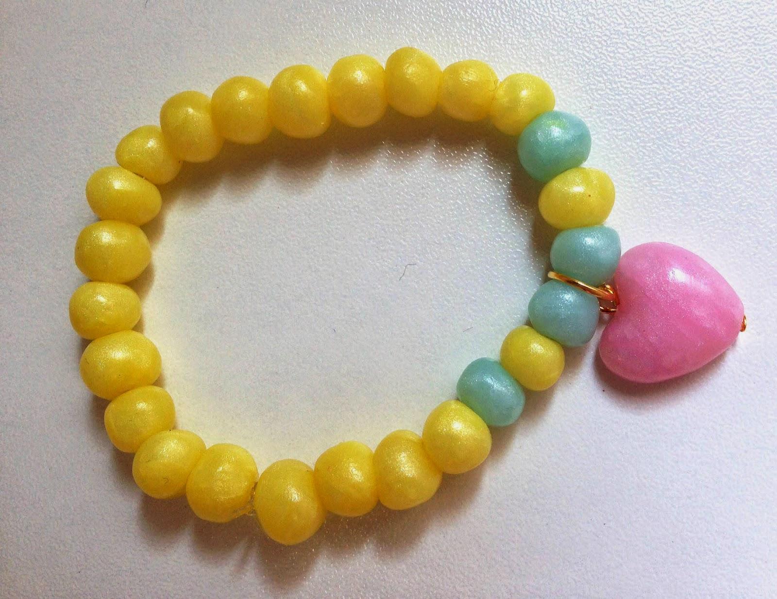 Pulsera Corazón amarilla NM Designs