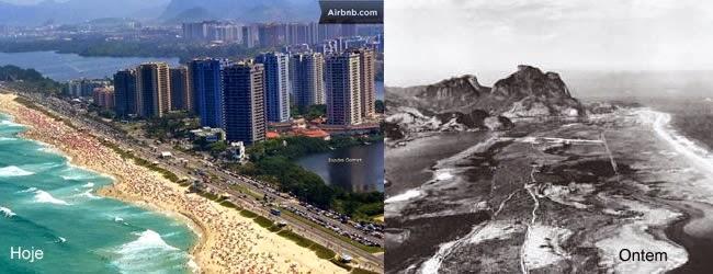 Praia da Barra da Tijuca, a maior em extensão.  É considerada a Miami Brasileira.