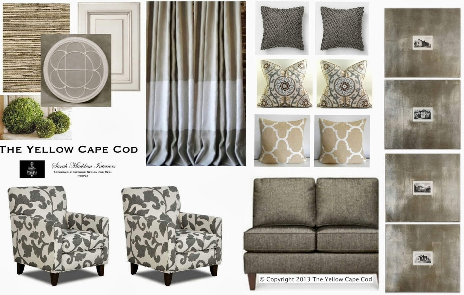 Taupe Living Room The Yellow Cape Cod Custom Designs