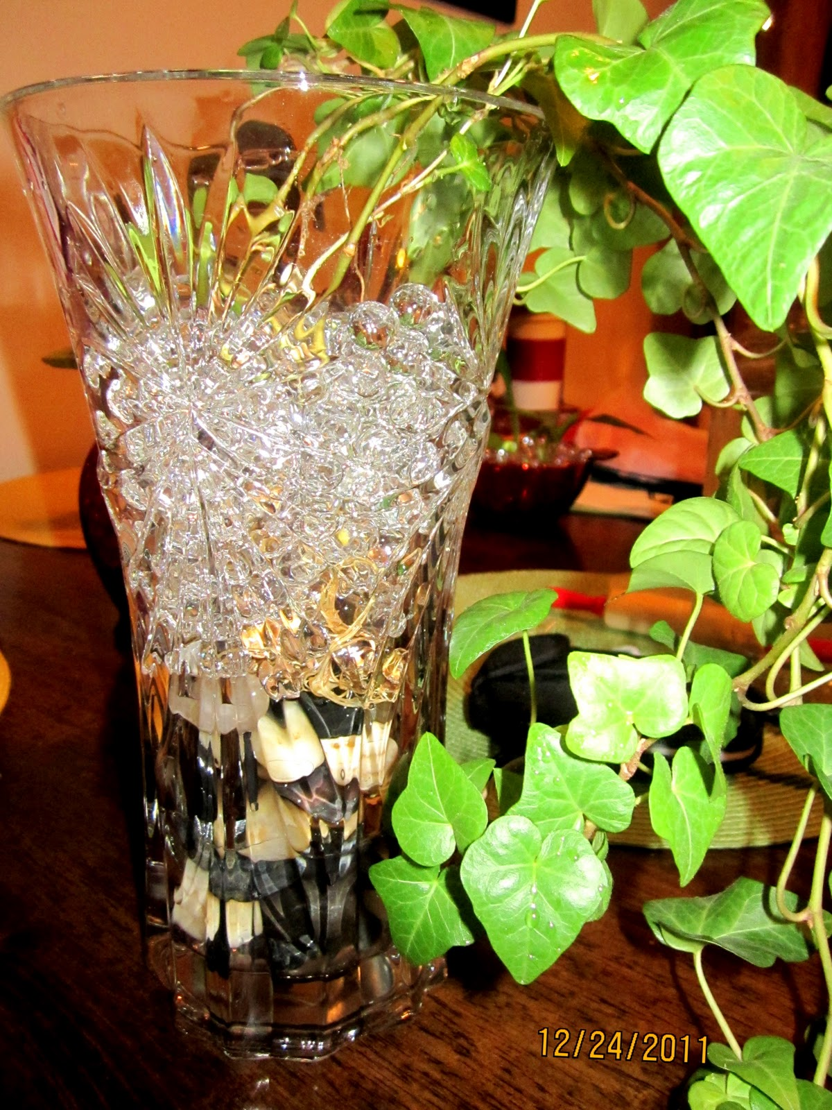 Homemade And Colorful Growing House Plants In Water Or