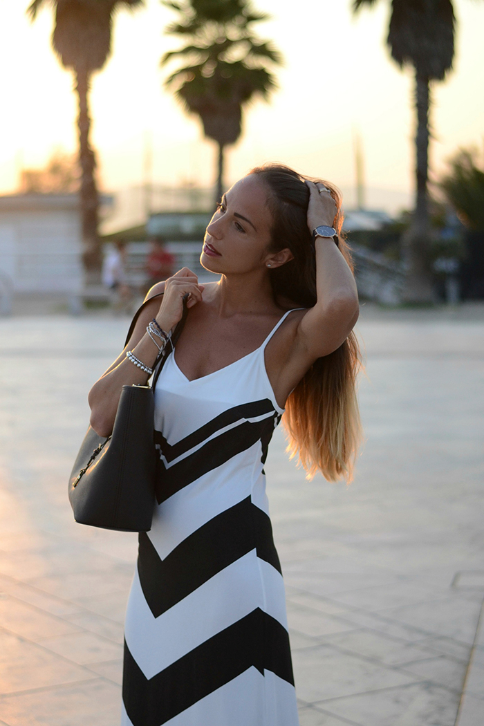 black white dress