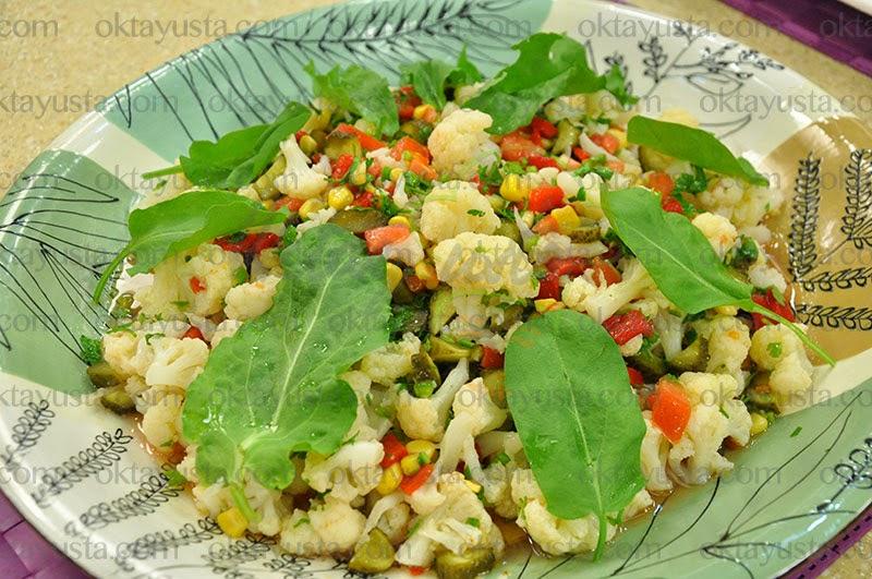 Karnabahar Salatası Tarifi Kolay Yapımı