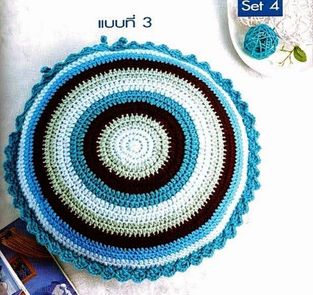 melissa melina crochet: coussin au crochet modèle rond, Étoile, et