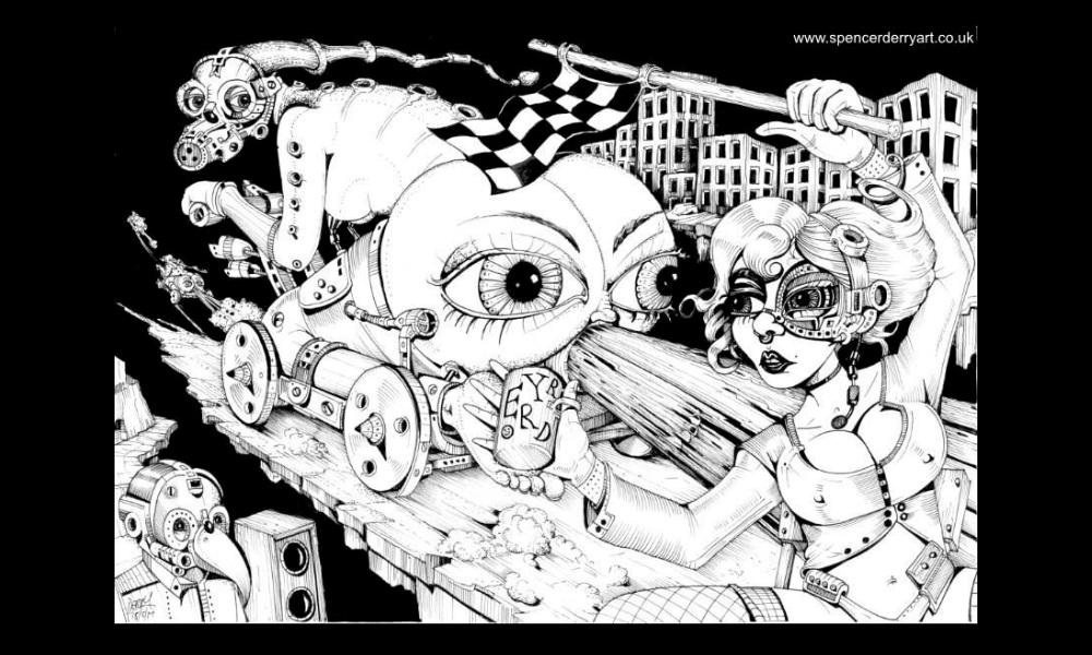 Speed Freaks (Art For Sale)