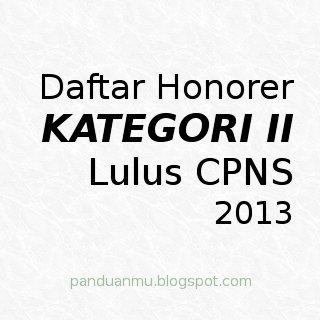 daftar honorer K2 lulus seleksi CPNS