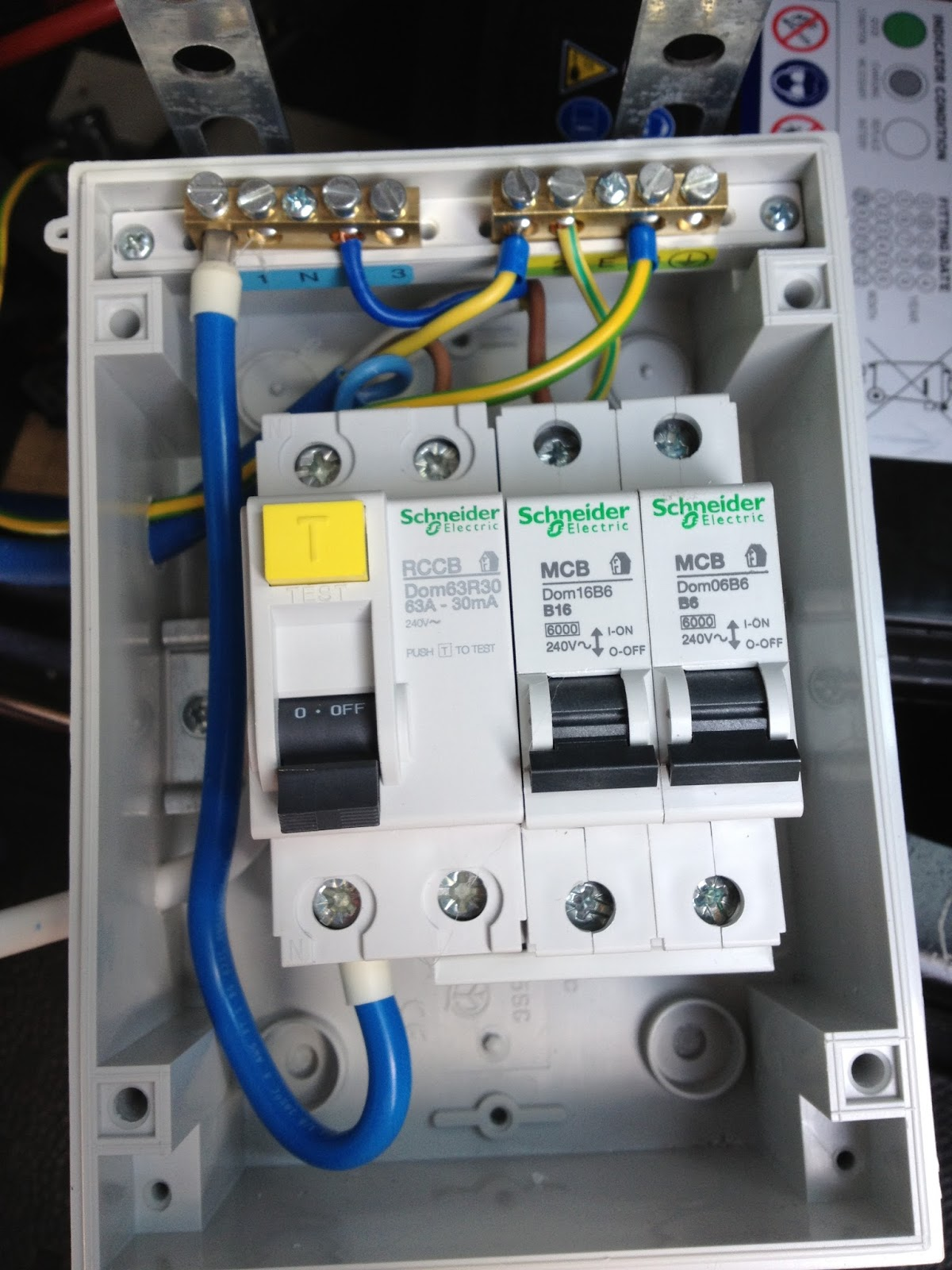 Wiring Diagram For A Shower Rcd : V split charge and mains installation vw t van conversion