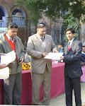 सवाई सिंह को सर्वश्रेष्ठ स्वयं सेवक का खिताब मिला(आगरा कॉलेज में )