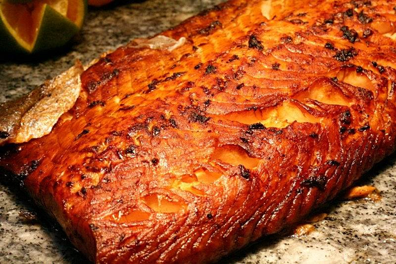 baked salmon with middle eastern spices Arabian Delights Buffet at Diamond Hotel's Corniche