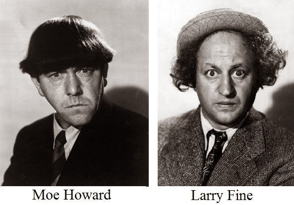 moe howard larry fine favorite actors pinterest