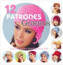 12 PATRONES DE GORROS