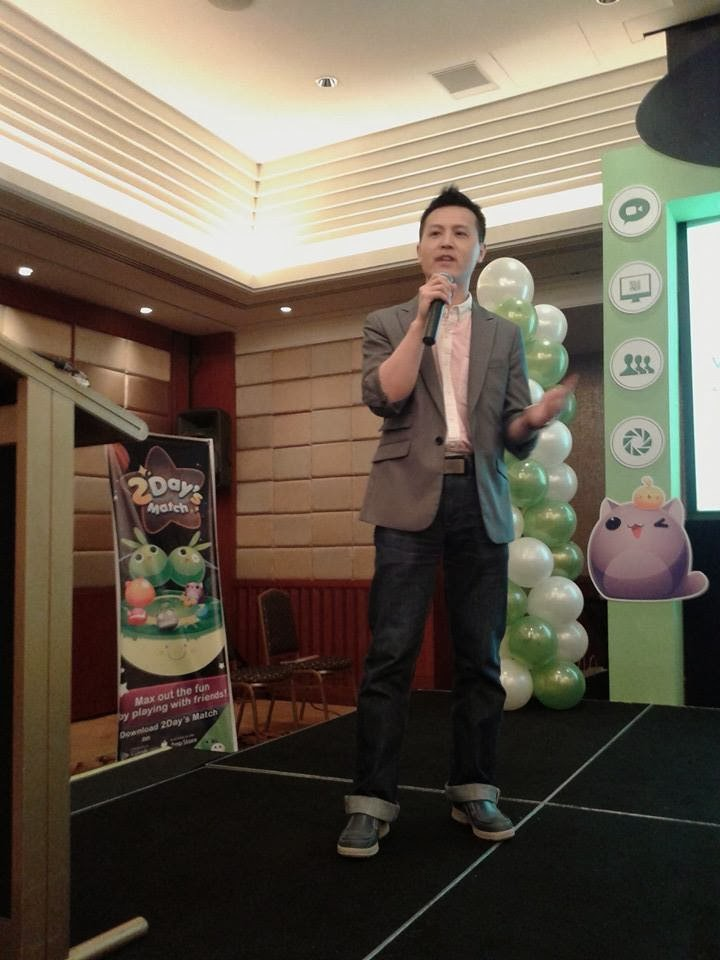 WeChat Business Development Manager Steve Zheng flew in all the way