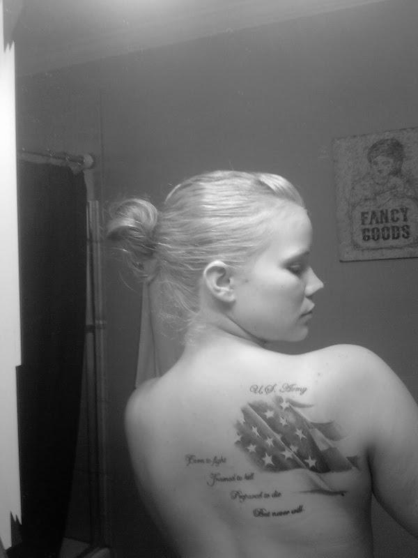 White Pride Tattoos Designs Country girl tattoos