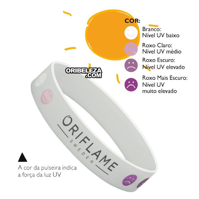 Pulseira Indicador UV Sun Zone da Oriflame