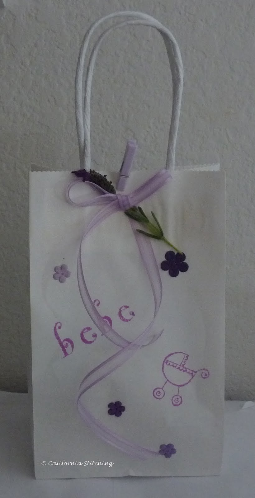 california stitching baby shower goodie bags