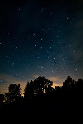 Звездное небо и облака