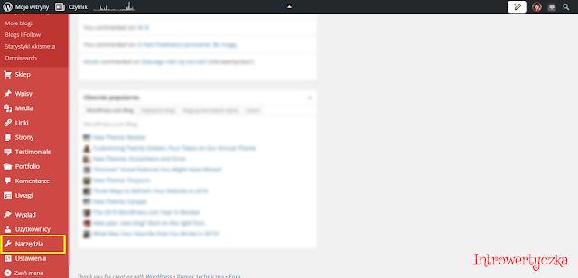 Wordpress - Narzędzia