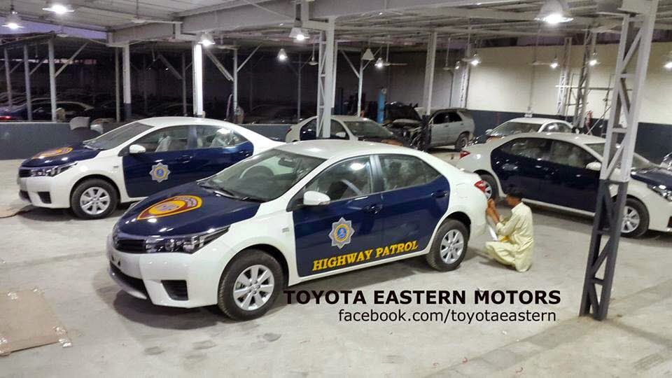 Toyota Grande given to Motorway Police