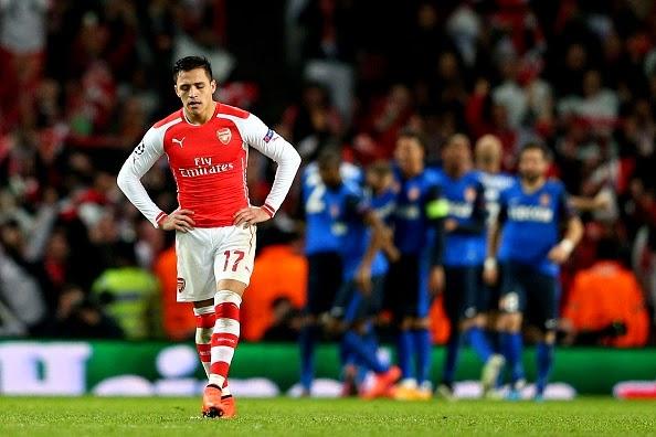 Liga Champions : Arsenal Dipermalukan AS Monaco 1-3
