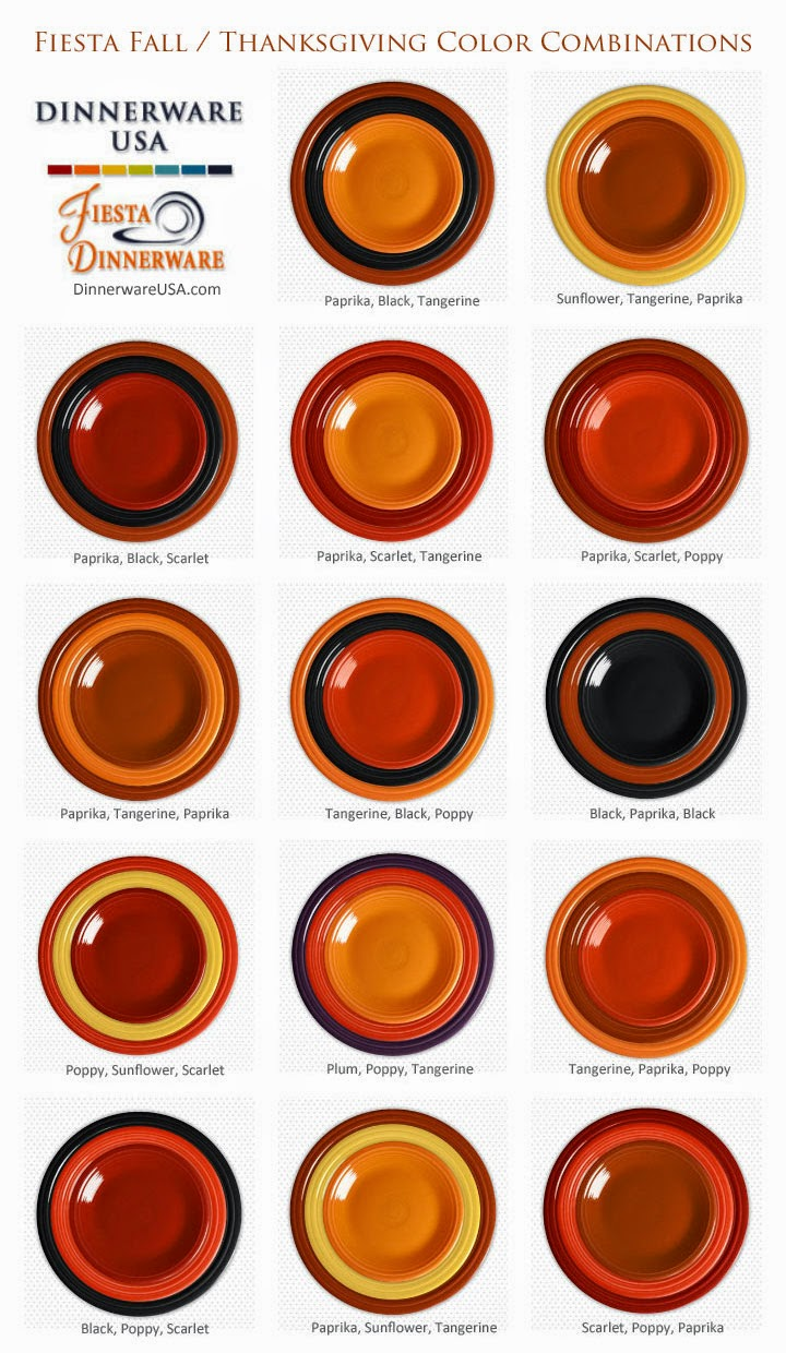 We hope this graphic of some of our Fiesta dinnerware color combinations inspires you to set a beautiful Thanksgiving table.  sc 1 st  Dr. Dinnerware - Blogger & Dr. Dinnerware: Fabulous Fiesta Dinnerware Settings for Thanksgiving