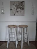 Burlap Barstools Tutorial - with nailhead trim!