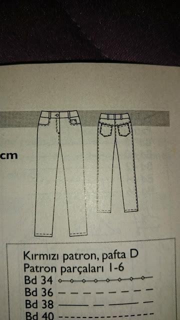 burda dergisi pantolon kalıbı