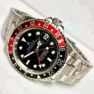 Jam Tangan Rolex GMT Black-Red Matic