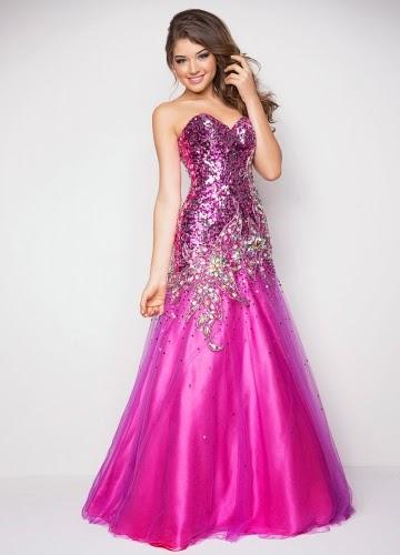 purple long Elegant Prom Dresses For You