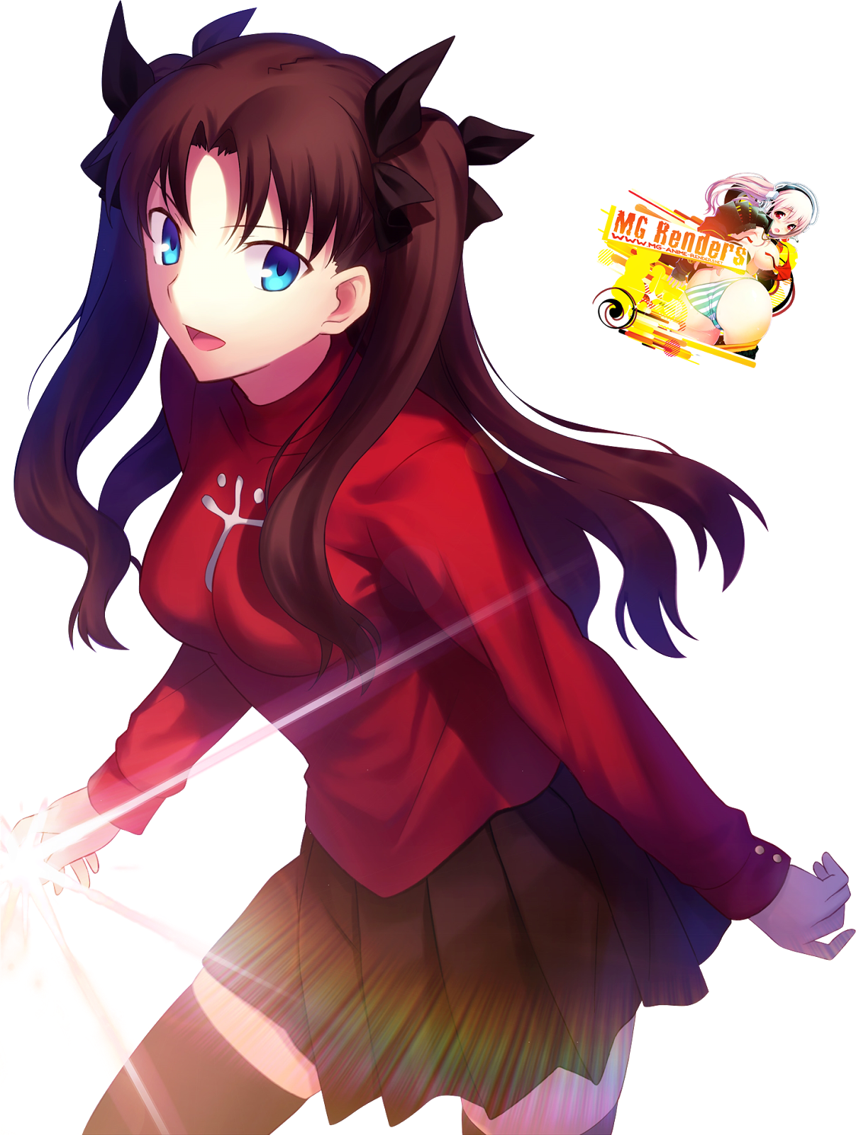 Tags: Anime, Render,  Fate series,  Fate stay night,  Tohsaka Rin, PNG, Image, Picture