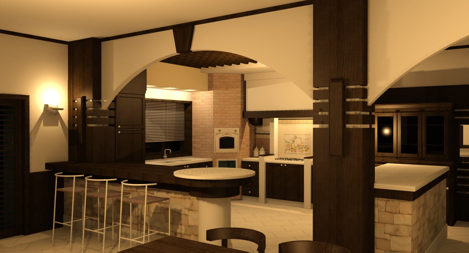 Raffaele Ruggieri Architetto: Progetto Tavernetta #C7C204 1536 830 Cucine Piccole E Belle
