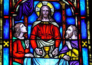 Vitral - Jesus at Emmaus-FUMC Pottstown, PA