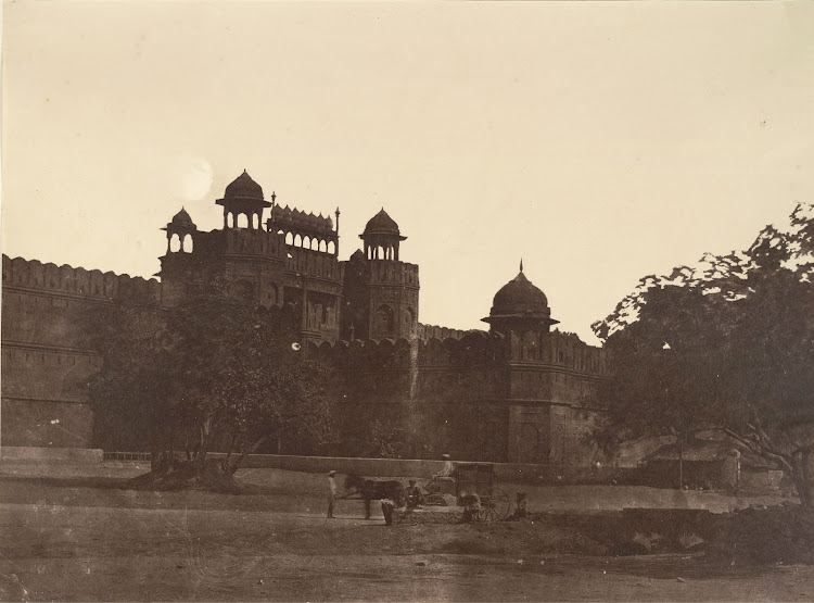 The Delhi Gate, the southern gate to the Red Fort or Lal Qila - 1858