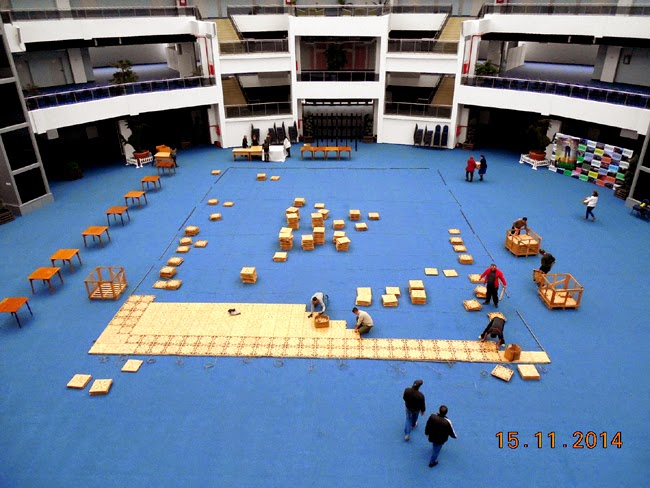 montarea salii la Centrul Multifunctional Craiova