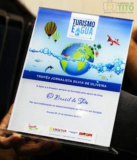 O Brasil de Tito recebe prêmio na categoria Blog no troféu Jornalista Sílvia de Oliveira