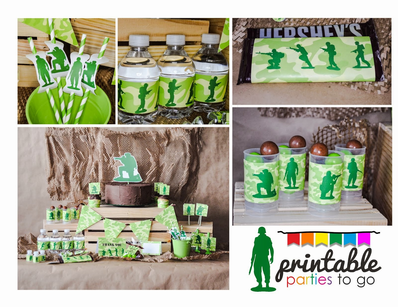 ARMY MEN PARTY SET