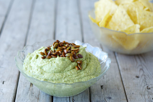 Avocado-Feta Dip with Spicy Pepitas