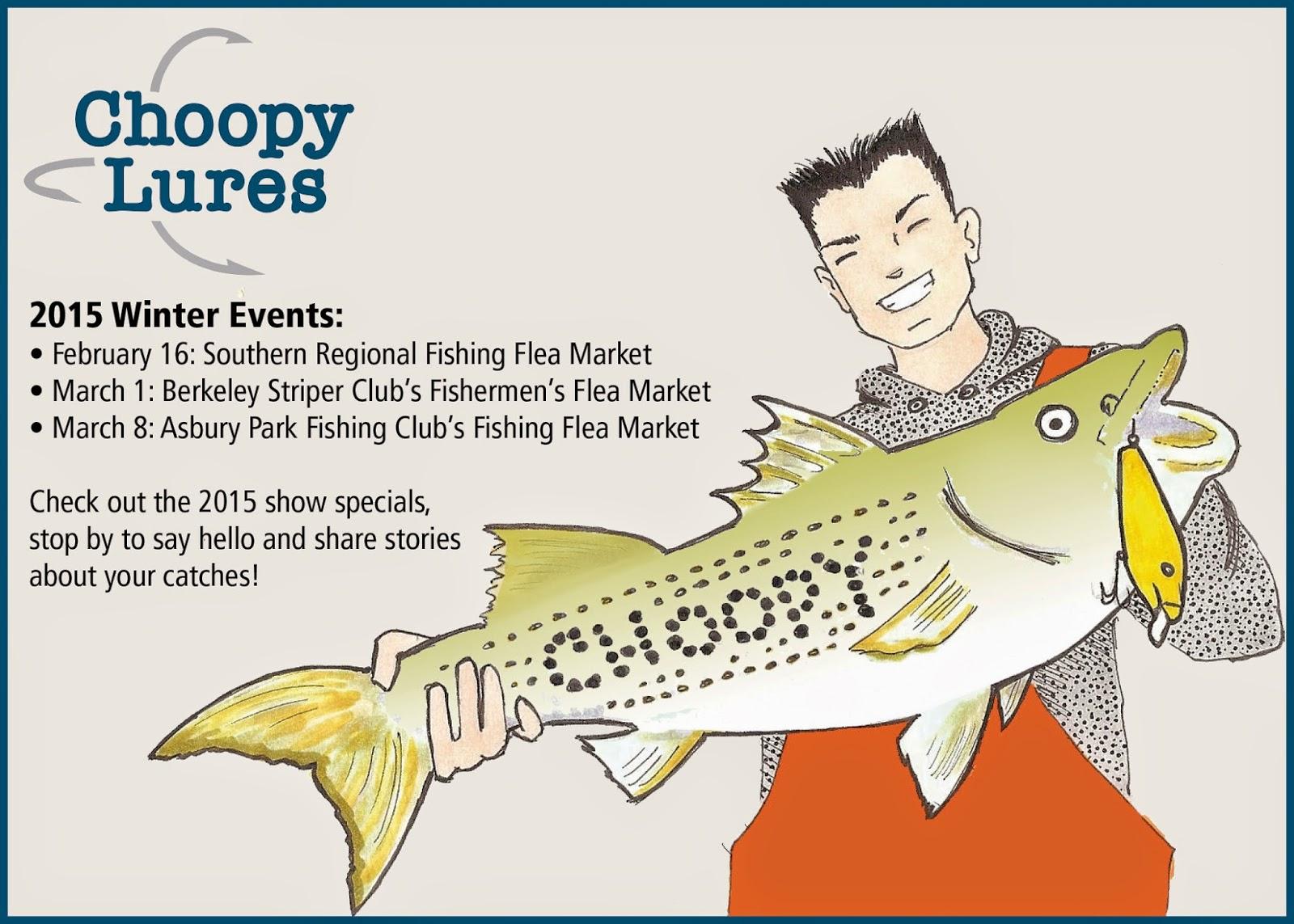 Choopy lures for Fishing flea market nj