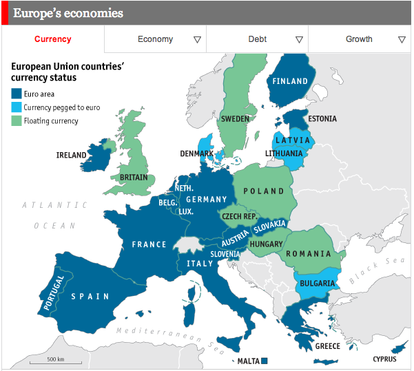 euro zone The countries of the european union whose official currency is the euro.