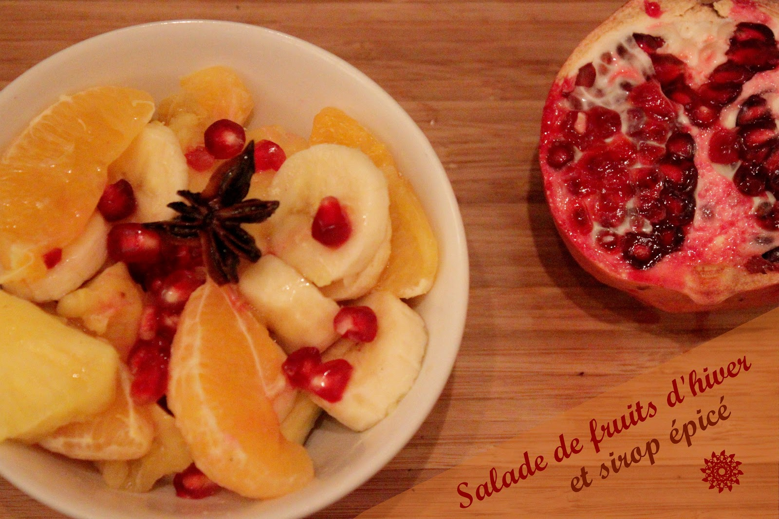 salade de fruits hiver epices