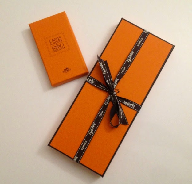 Iconic orange Hermès box
