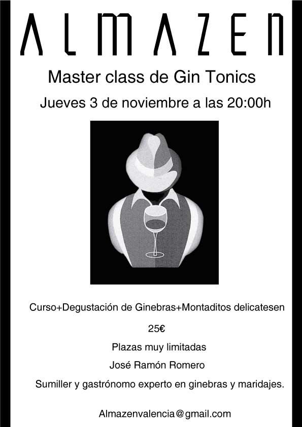 Almazen master class gin tonics for Master interiorismo valencia