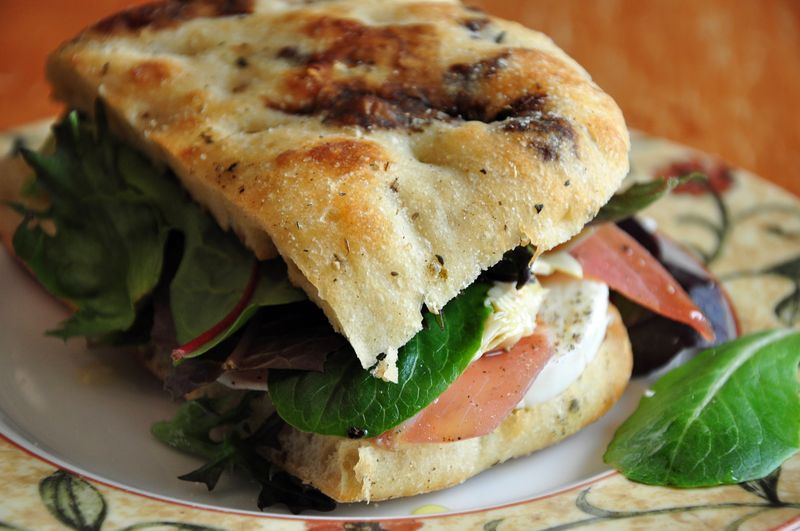 ... Picnic Sandwiches with Artichokes, Prosciutto, and Balsamic Vinegar