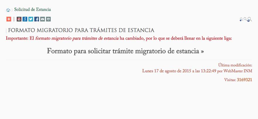 EMIGRANTES EN MÉXICO: NOTIFICAR CAMBIOS: Cambio de Lugar de ...