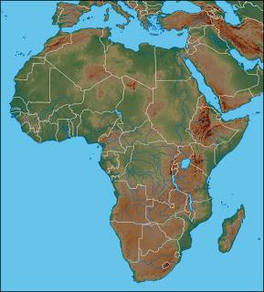 Dilsiz Afrika K�tas� Fiziki Haritas�