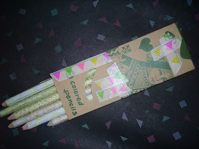 buntstifte mit masking tape