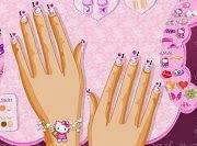 Decorar uñas con Hello Kitty
