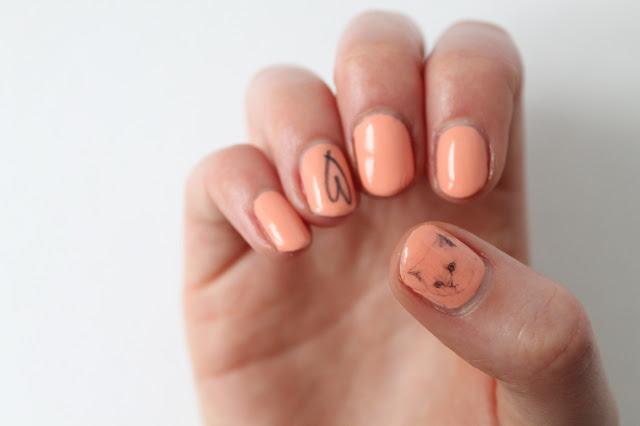 kitten nail art