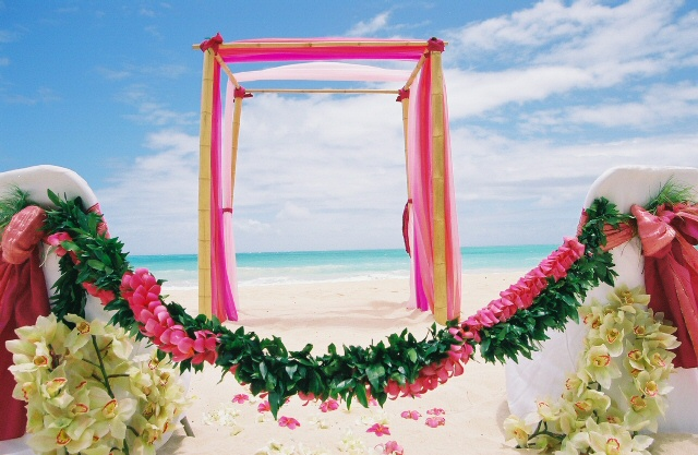 A wedding with a beach theme is usually relaxed and casual so pick colors