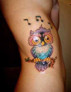 Waist Owl Tattoos